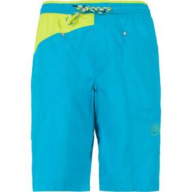 La Sportiva Bleauser Spodnie krótkie Mężczyźni, tropic blue/apple green
